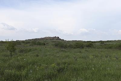 Нетипичный ландшафт Каменных Могил