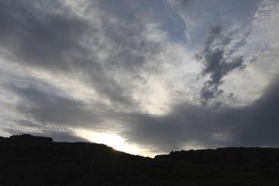 Уходящий день в Каменных Могилах